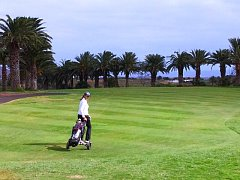 Golfing on Lanzarote