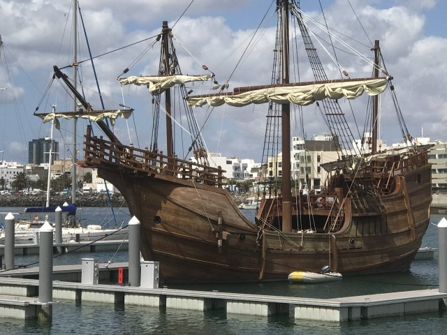 In the footsteps of Christopher Columbus with the Santa Maria
