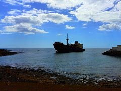 The Telamon shipwreck off Lanzarote